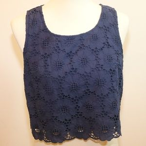 Lilly Pulitzer Lux Cropped Lace Top Sz 8